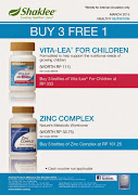 Zinc, Vitalea Kids Buy 3 Free 1