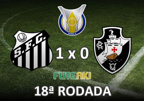 Veja o resumo da partida com o gol e os melhores momentos de Santos 1x0 Vasco pela 18ª rodada do Brasileirão 2015