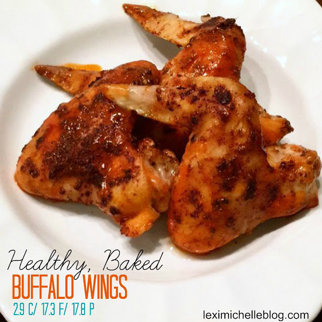 Healthy, baked Buffalo Wings! Just in time for the Superbowl! Macro counts in blog post, iifym/macro friendly meal