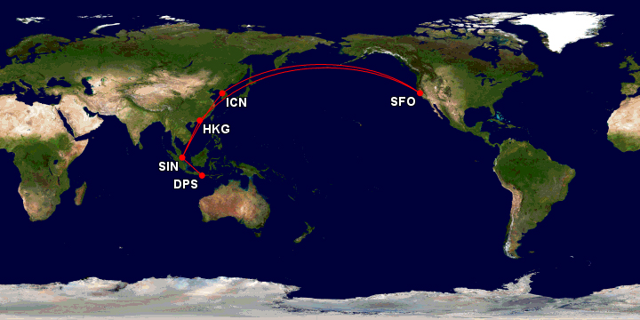 San Francisco to Bali Singapore Airlines StarAliiance United ...