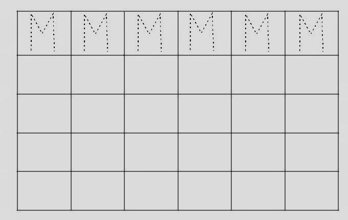 Alfabeto Pontilhado Letra M