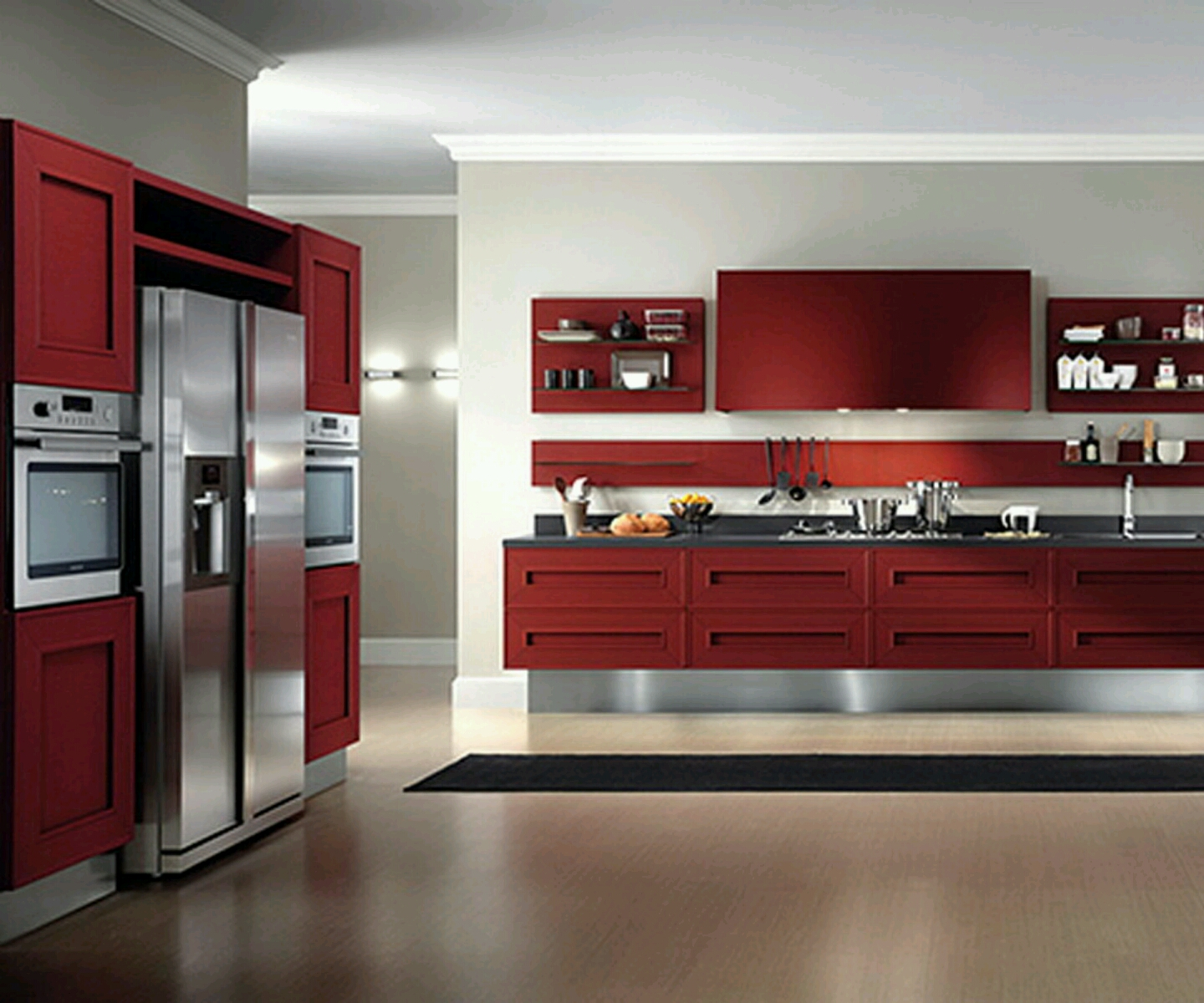 Modern furniture modern kitchen cabinets designs for Kitchen cabinets ideas pictures