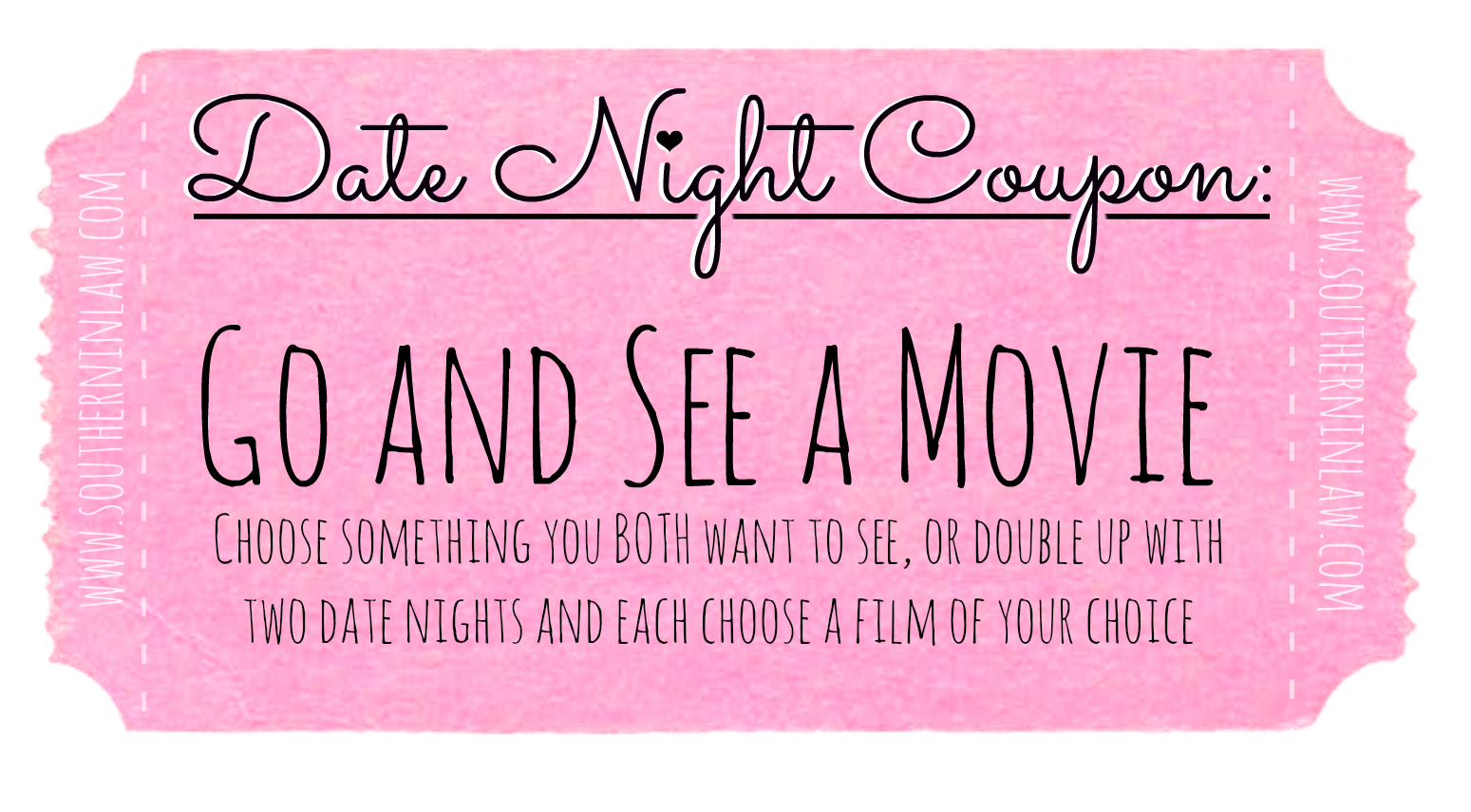 Cheap Date Ideas - Date Night Coupons - Go and See a Movie