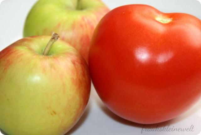 hausgemachte Apfel-Tomaten Marmelade