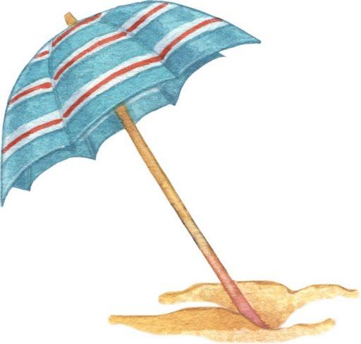 Dibujos coloreados cosas playa imagenes y dibujos para - Sombrilla playa ...
