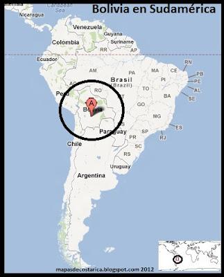 Bolivia en Sudamérica, Google Maps