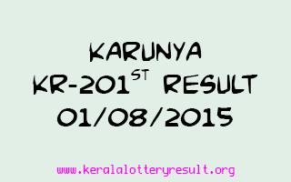 Karunya KR 201 Lottery Result 1-8-2015