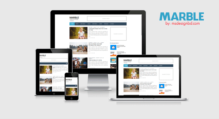 Download Marble Responsive Blogger Template 2016 - Blogger Template