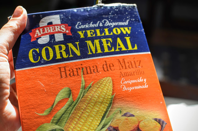 Corn meal box | Cheesy Pennies