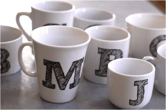 Kişiye özel harfli kupa bardak yapımı
