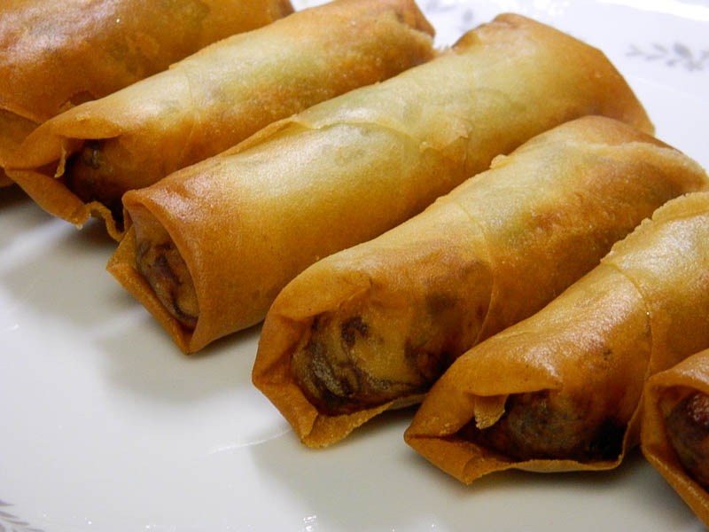 her global kitchen: #58 Fried Turkey Spring Rolls