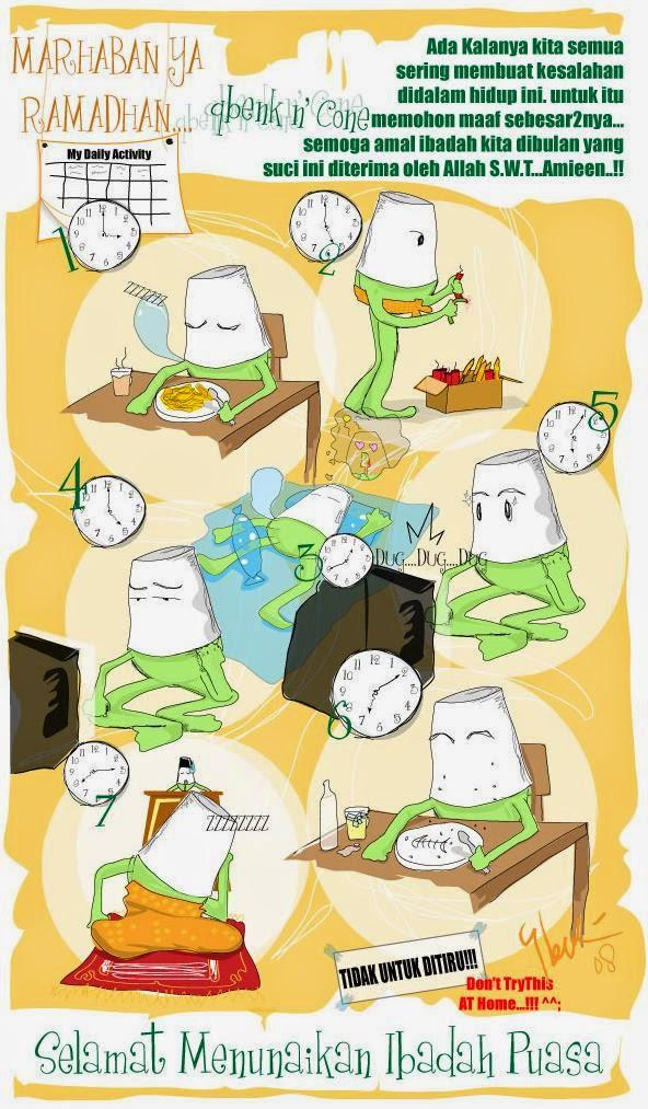 15+ Kartun Ucapan Selamat Ramadhan (Puasa) Keren Lucu