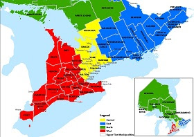 Ontario Counties.