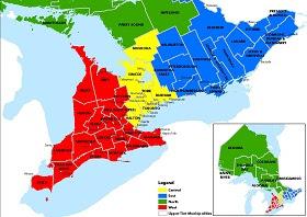 Ontario Counties.