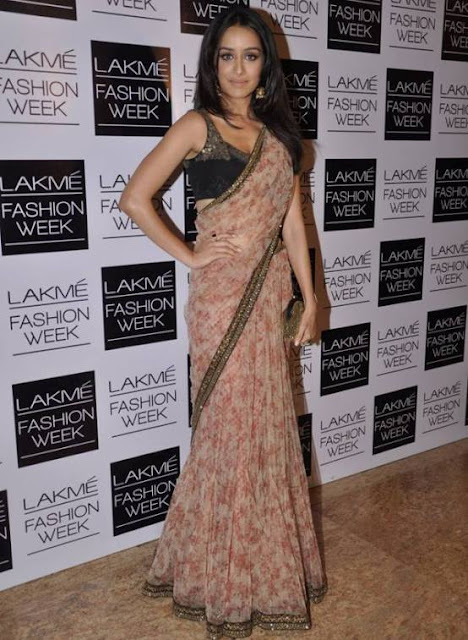Shraddha Kapoor in Cream and Brown Sabyasachi Saree