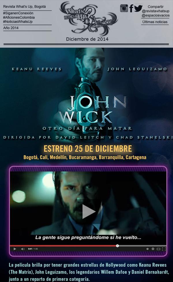 JHON-WICK-KEANU-REEVES-ESTRENO-PASCUA-NAVIDAD-CINES-25-DICIEMBRE