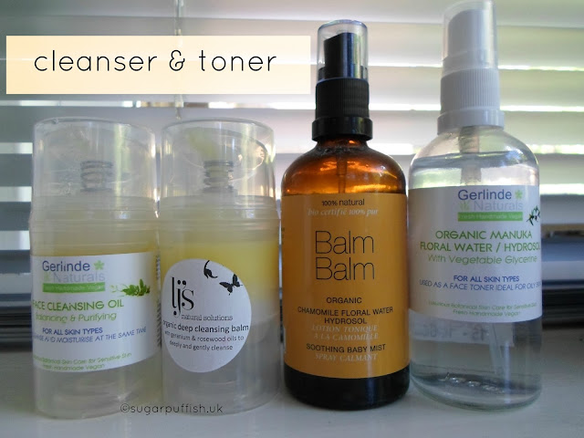 Sugarpuffish's Current Natural Organic Skincare Routine June 2015 Cleanser Toner