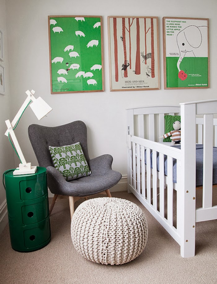 green baby room by Nicole Rosenberg