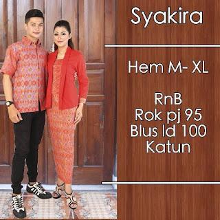Baju Batik Pasangan (Sarimbit) Syakira Merah