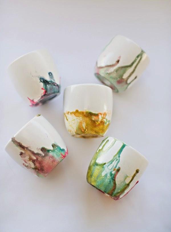 C mo decorar tazones de cer mica con barniz de u as Esmalte para ceramica