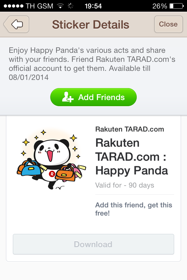happy panda line stickers