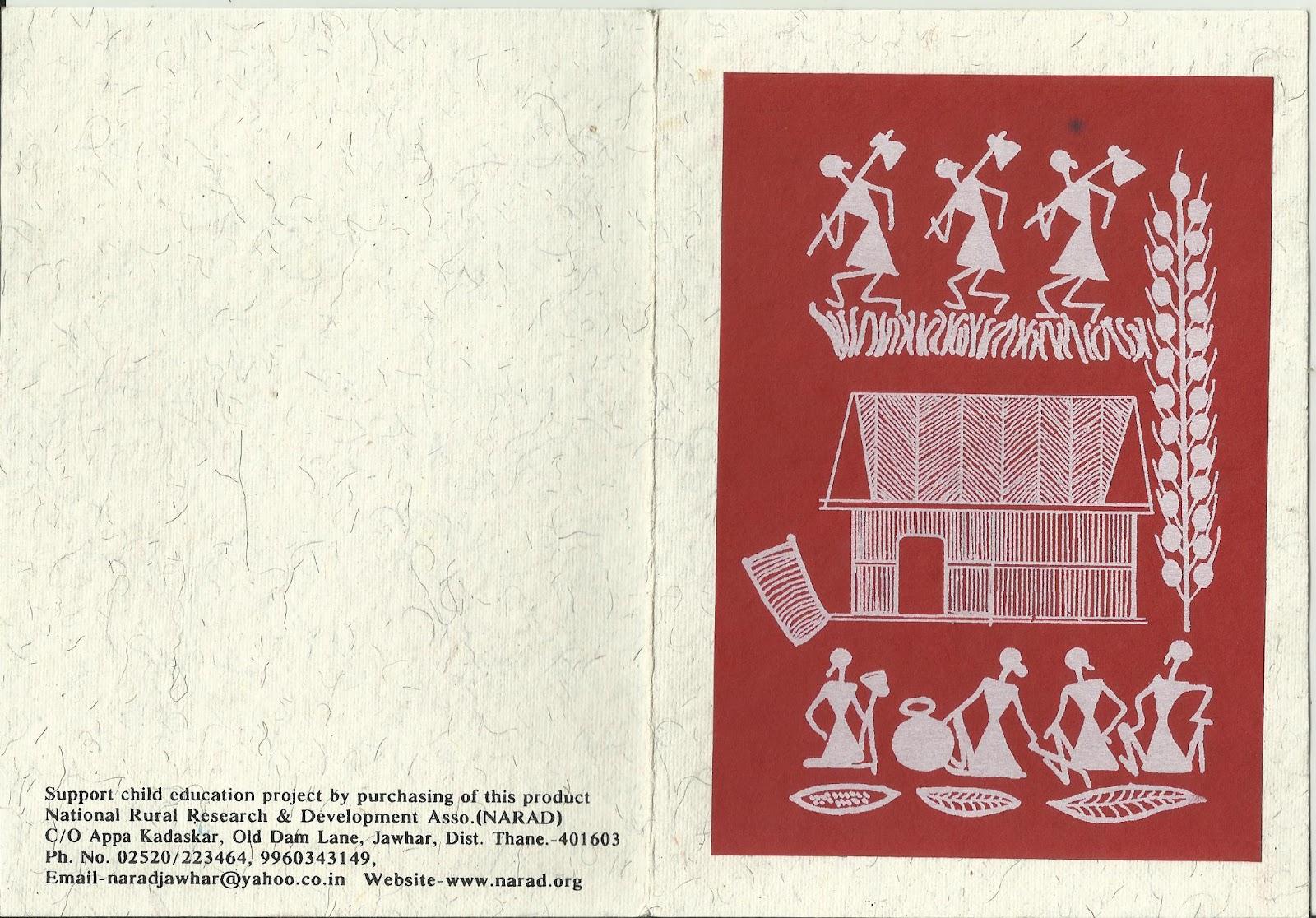 Heritage of india warli paintings greetings cards these are some of my warli paintings greetings cards kristyandbryce Gallery