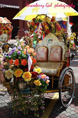 (Malaysia) - Trishaw ride in Penang