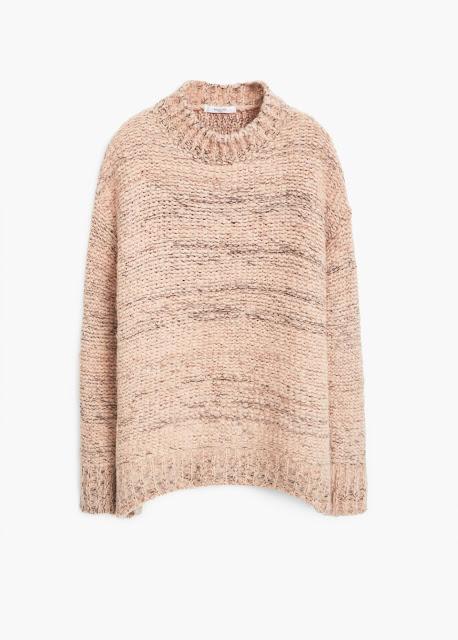 mango peach jumper, peach knit jumper,