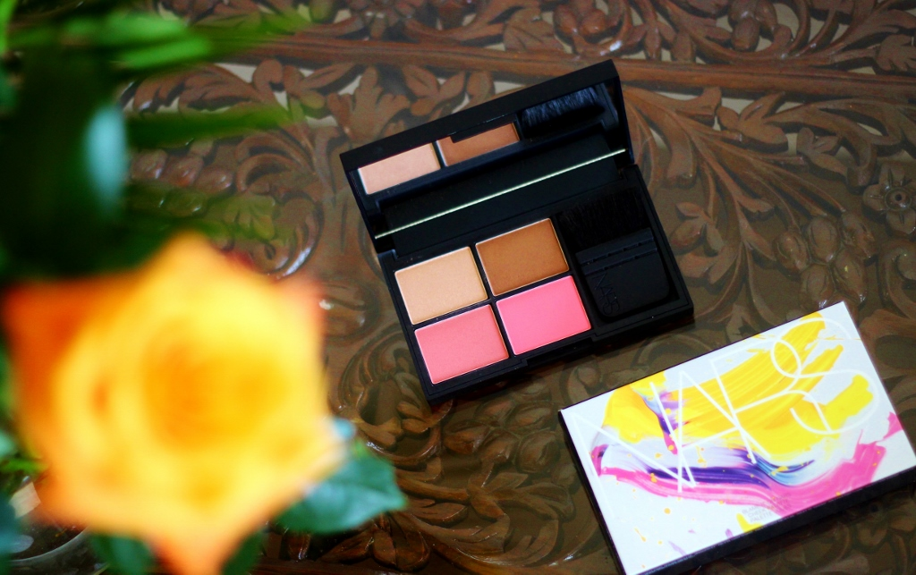 blame it on NARS Cheek palette review satellite of love, casino, day dream, new attitude, mini Ita brush