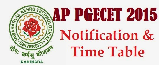 AP PGECET 2015 Notification Schedule Time Table