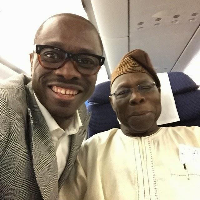 Julius Agwu and Former President Olusegun Obasanjo Takes a Selfie Together