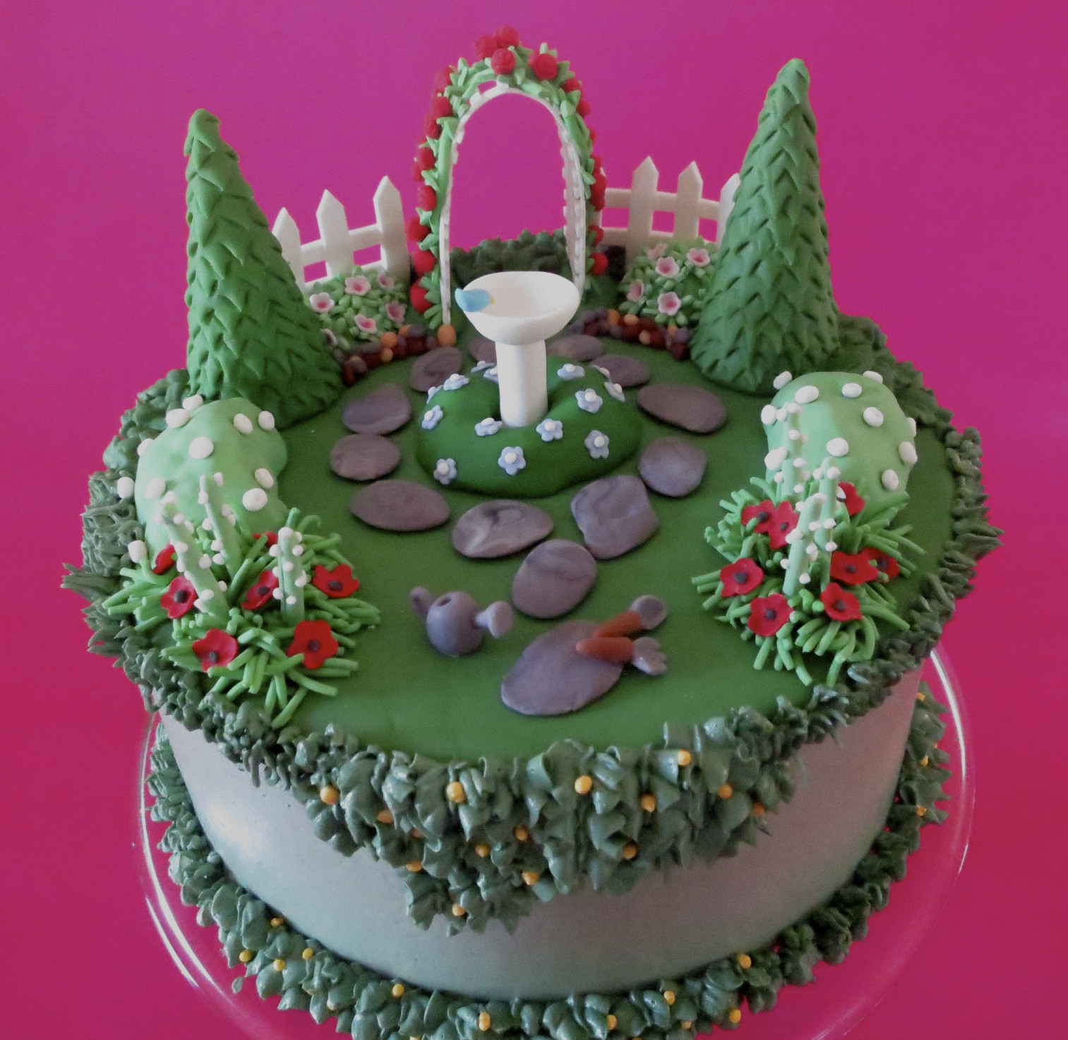 Christina's Kitchen Art: English Garden Birthday Cake