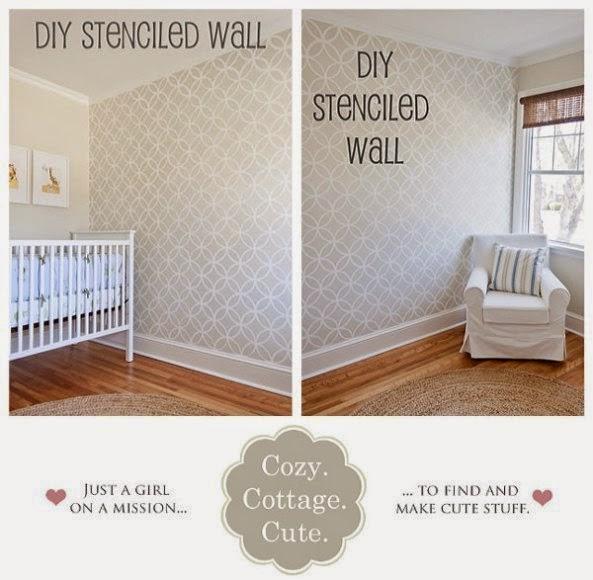 nursery wall painting stencils