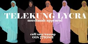 Telekung Lycra Muslimah Appearal