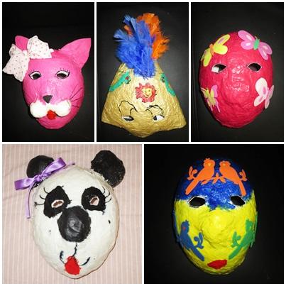 Studiamando liberamente maschere di cartapesta da palloncini for Carta per cartapesta