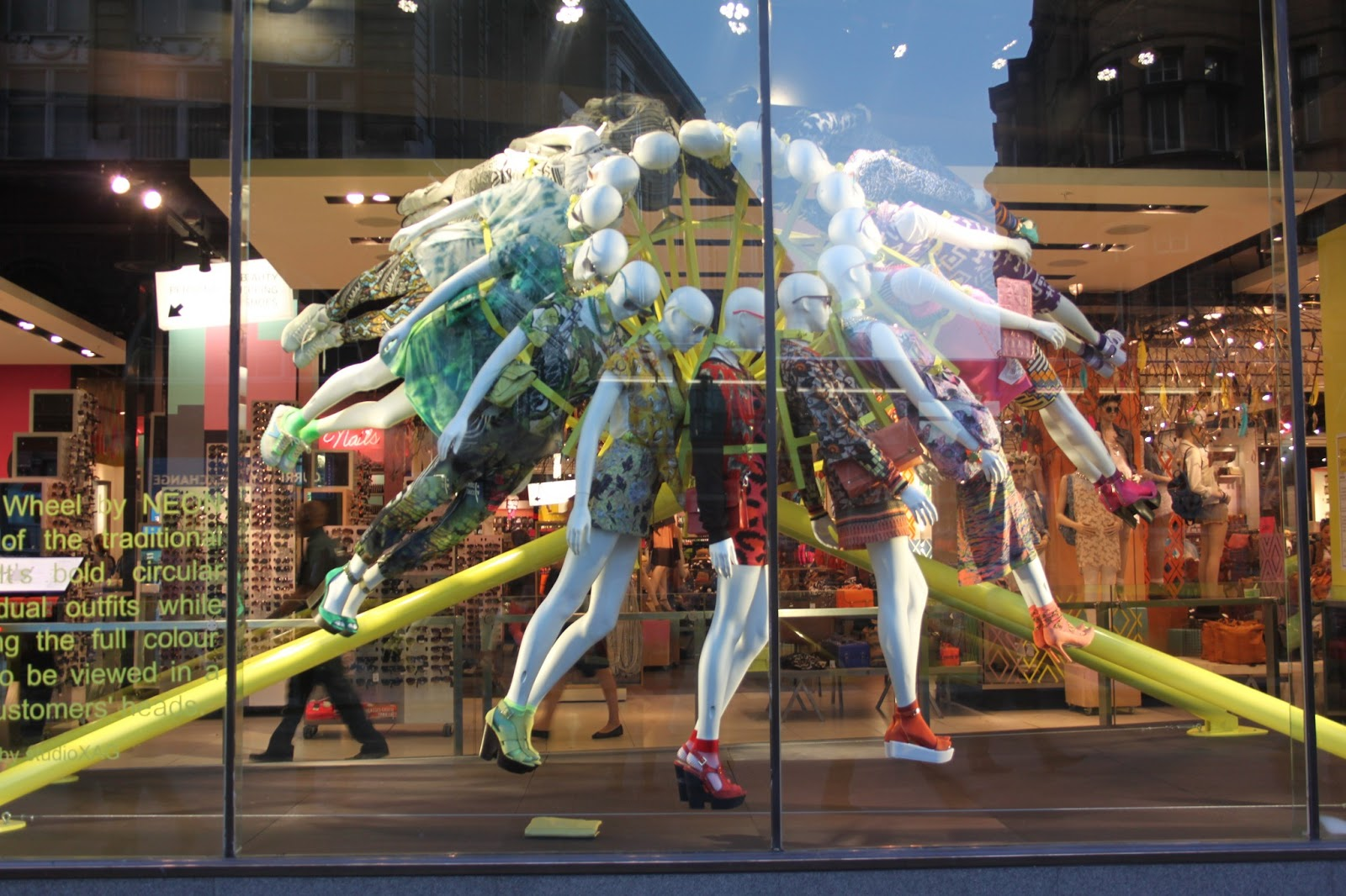 The regent street windows project 2012 - Topshop Neon Store Window I Don T Normally Do Posts As Such But I Truly Love Visual Merchandising Window Dressing And I Was Excited To See What All