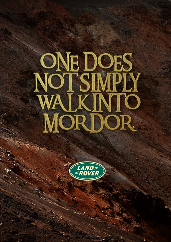 One does not simple walk into mordor
