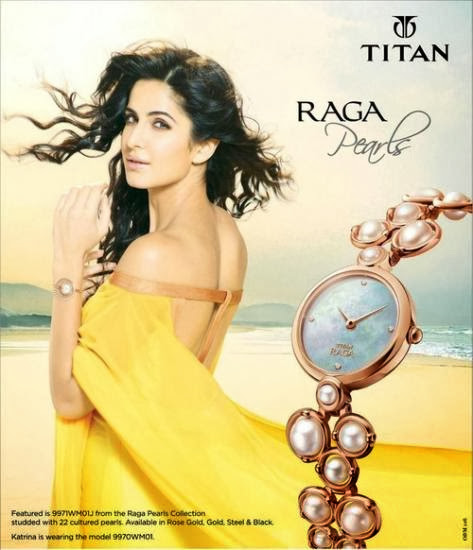 Katrina's new print Ad for Titan Raga
