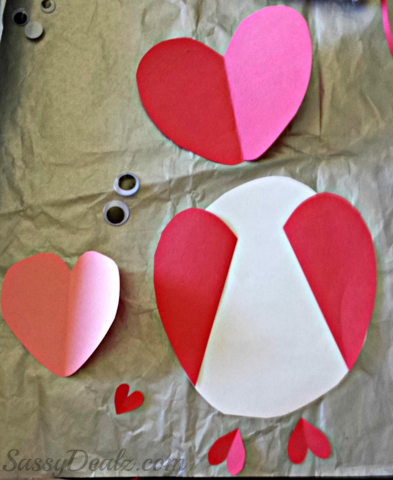 Valentine Heart Fingerprint Craft For Kids Diy Card Idea Crafty