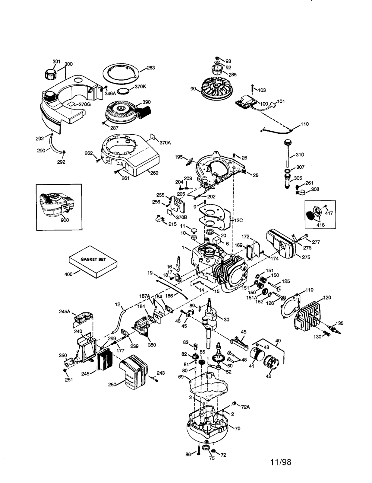 Tecumseh Engine Parts Diagram on winch parts diagram