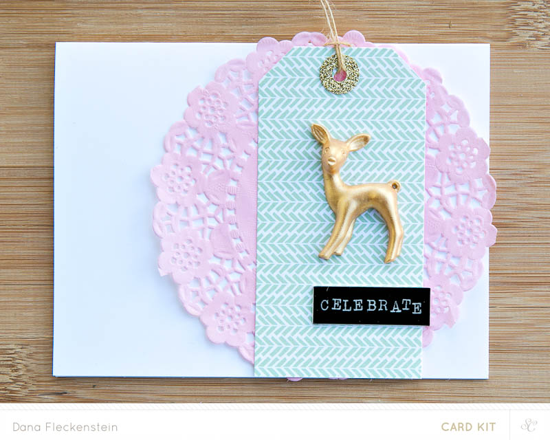 Celebrate | Handmade holiday card by @pixnglue