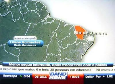 Band News coloca Rio de Janeiro no lugar do Ceará