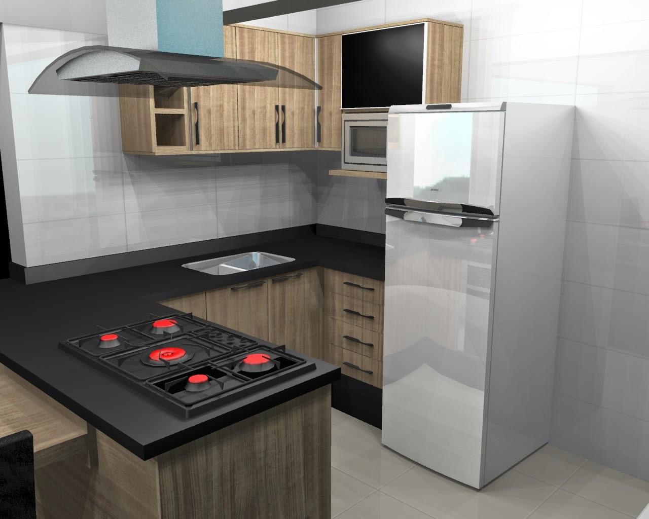 Móveis da Praça: Cozinhas planejadas para Apartamentos Pequenos #B81313 1280 1024