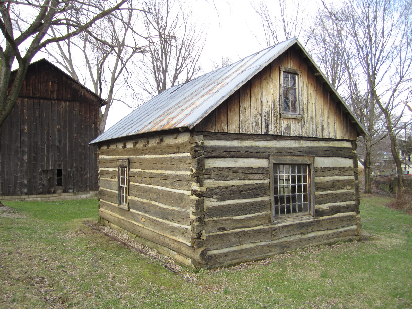 #7C744F Beside The Tobacco Barn Was This Old 1800's Log Cabin. Very Cool! with 1600x1200 px of Brand New Log Cabin Barn 12001600 pic @ avoidforclosure.info