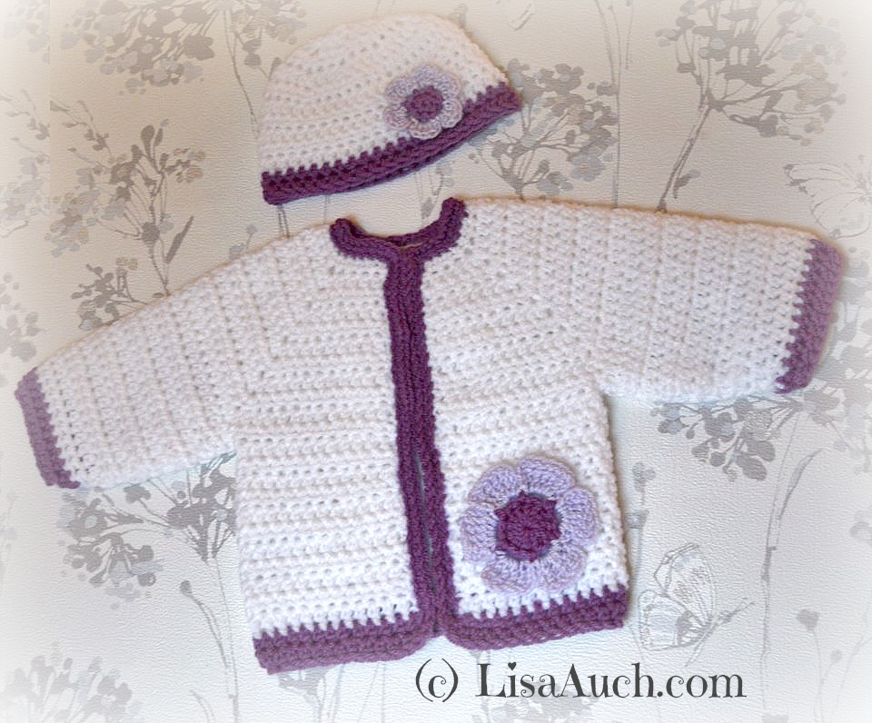 Crochet Newborn Baby Sweater Free Pattern : Free Crochet Pattern Baby Cardigan Free Crochet Patterns ...