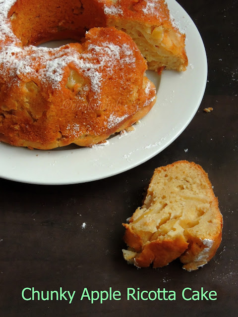 Apple ricotta coffee Cake, Apple Ricotta Cake