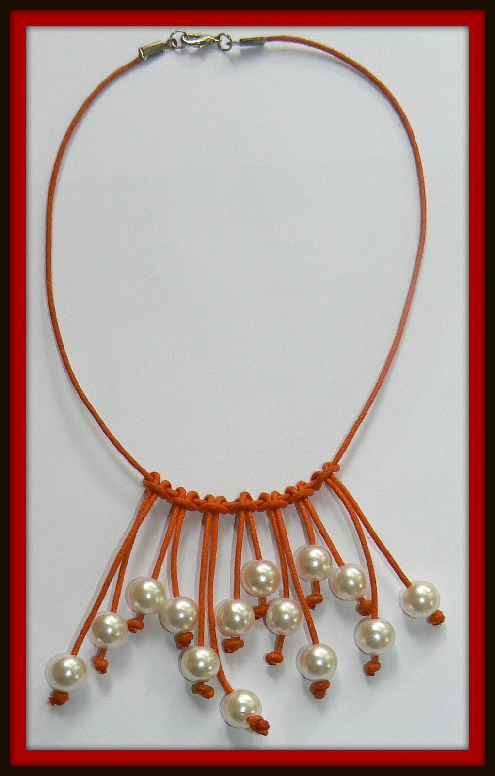 Pakicel bisuteria collar cuero perlas - Collares de cuero ...