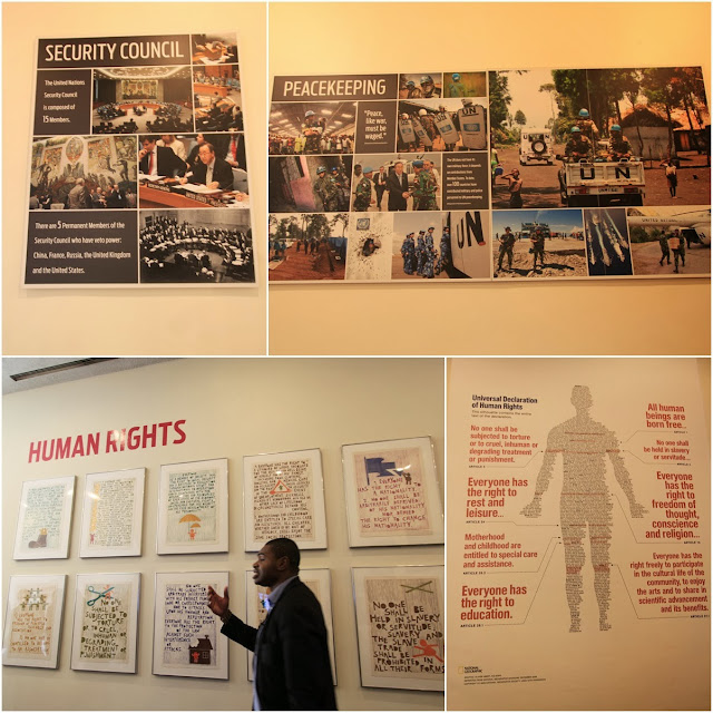 Human Rights Exhibition at United Nations Headquarter Building in New York, USA