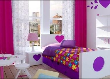 Moda para Peques Cortinas para Dormitorio de Nias
