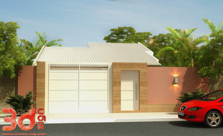 Fachadas de casas simples bonitas e pequenas decorsalteado for Modelos de casas fachadas fotos